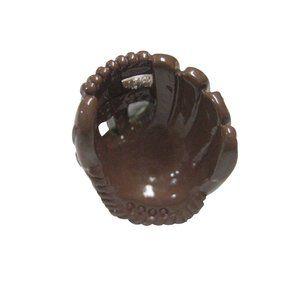 Brown Toned Baseball Glove Fashion Ring